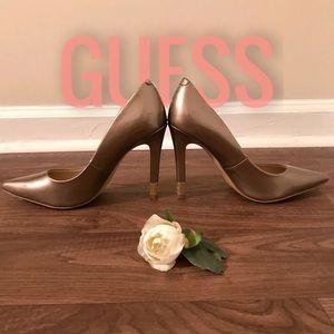 Stylish Bronze/Gold Guess High Heels